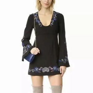 4d0563c5f Free People Dresses | Crochet Peter Pan Collar Black Dress M | Poshmark
